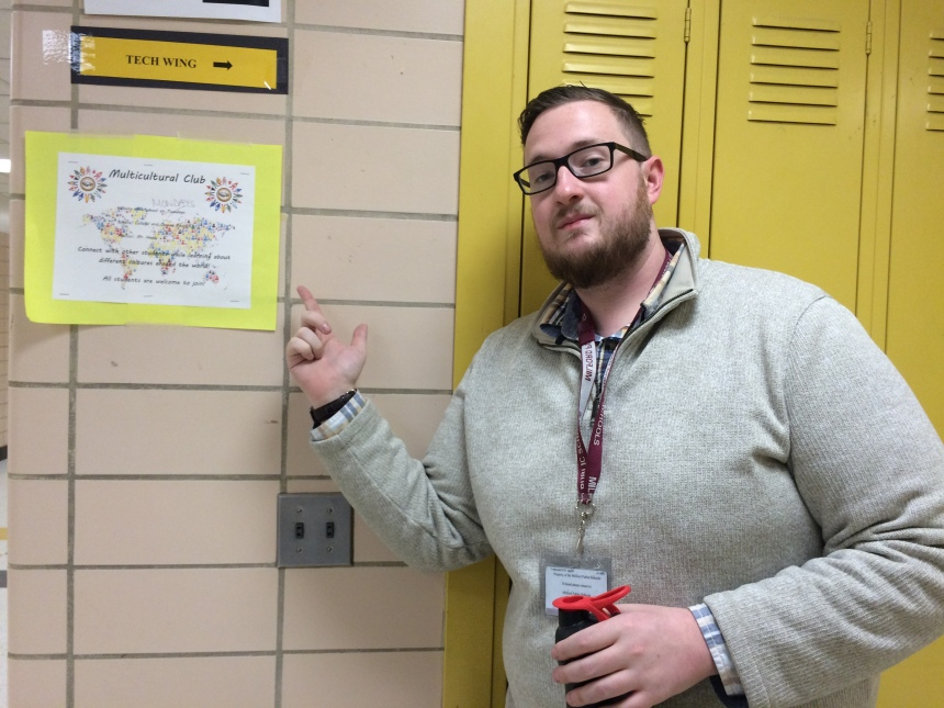 Mr. Healy is the advisor of the Multicultural Club. (Photo by Valerie Araujo)
